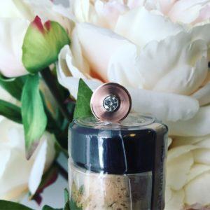 rose gold and diamond lapel pin
